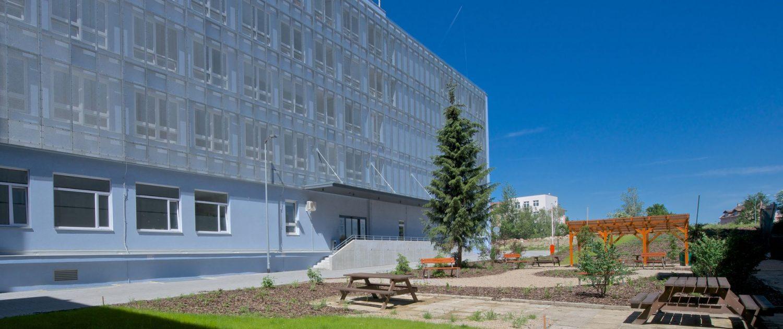 Zdravotnictví - budova Psychiatrické nemocnice Písek